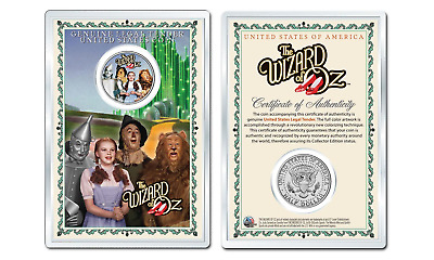 WIZARD OF OZ Cast OFFICIAL JFK Half Dollar U.S. Coin in PREMIUM HOLDER