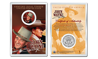 JOHN WAYNE - Duke OFFICIAL JFK Half Dollar U.S. Coin in PREMIUM HOLDER