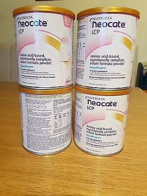 4 x Neocate LCP. Infant Formula Powder. 0-12 Months. 400g. Sealed