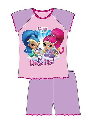 Girls Official Shimmer and Shine Short Pyjamas