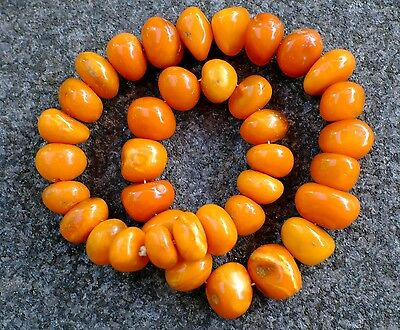 81 Gramm Bernsteinkette baltic Amber necklace Königsberg butterscotch um 1930