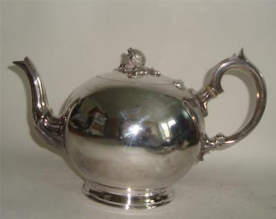 ANTIQUE SILVER PLATED TEAPOT 19thC