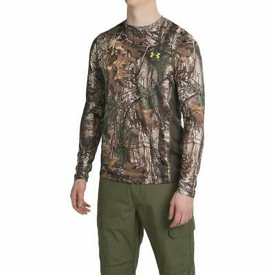 New Under Armour UA TECH Scent Control T Shirt LS Hunting Camo Realtree Xtra Tee