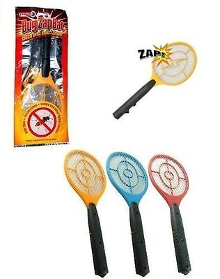 2 X New  2 Electric Fly Swatter Fly Bug Zapper Bats Flying Insect Zap Bat Swat