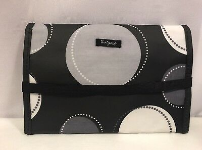 Thirty One Fold And Go Organizer Happy Dots 31 Black Gray Canvas Travel Case