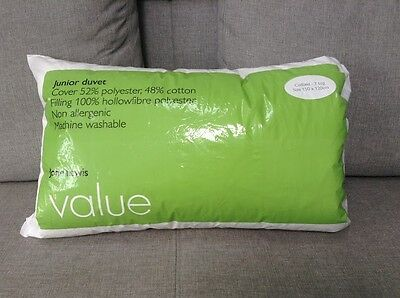 John Lewis Junior Cotbed Duvet - Non-Allergenic -  7 Tog - Unused