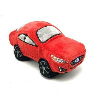 Car Dog Toy Subaru Plush Squeaker Impreza Embroidered Logo Pet Plush Red