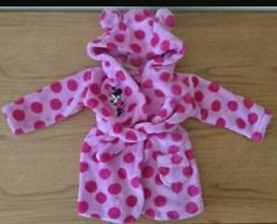 Minnie Mouse Spotted Dressing Gown 0-6 Months