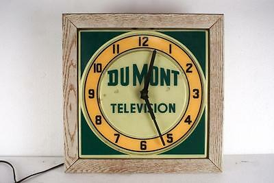 Dumont Television Clock 1940's Excellent Condition Works And Keeps Time