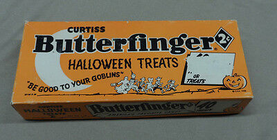 Vintage Curtiss Butterfinger Halloween Treats Candy Bar Box ONLY - RARE Preowned