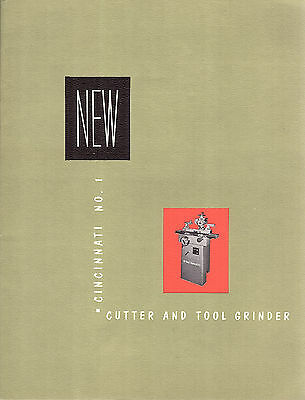Cutter & Tool Grinding Machines 1954 Brochure Cincinnati Milling Machine Co