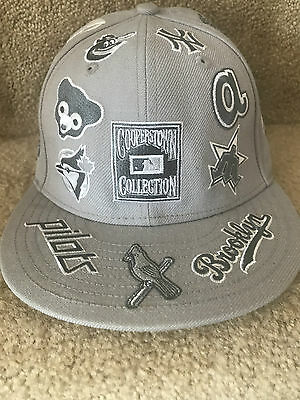 Cooperstown Collection New Era 59Fifty MLB Logos Fitted Cap Hat