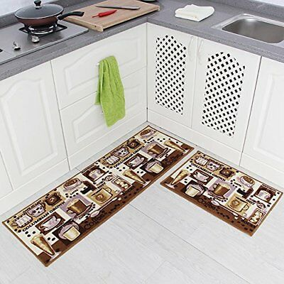 Ordinaire Carvapet 2 Piece Non Slip Kitchen Mat Rubber Backing Doormat Runner Rug