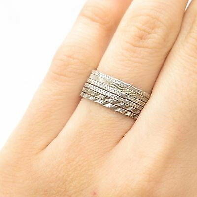 87f4d2ec2 PANDORA STERLING SILVER 925 Eternal Clouds Stackable Band Ring Size ...