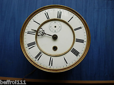 Mouvement d'horloge pendule clock antique Uhr pendulum regulator Gebrauchtpendel