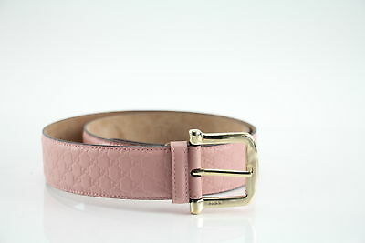 GUCCI Pink Leather Belt Size 90/36 281548 100% Authentic