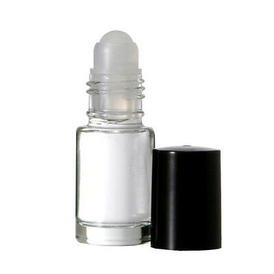 36 Mini Glass Roll On Bottles- 1 dram (3.70ml.) W Caps & Inserts Refillable