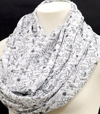 Science Infinity Scarf Engineer Birthday Gift For Her Nerd Geek Wife Teacher