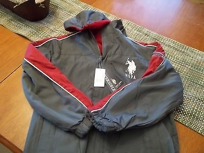 U.S.Polo Assn. Boys Reversible Jacket w/hood NEW WITH TAGS Size M 10/12
