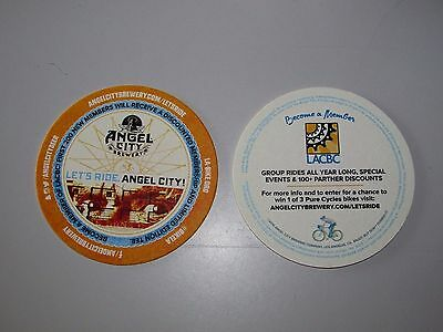 "NEW (25) Angel City Brewing ""Let Ride"" Beer Bar Coaster Lot Lift Coasters LACBC"