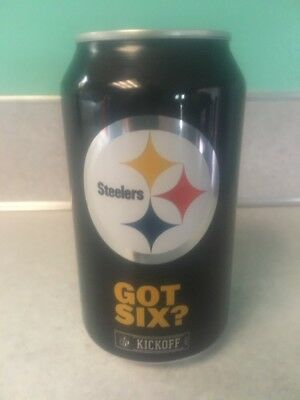 2017 Bud Light Beer Can Pittsburgh Steelers Got Six? Nfl Kickoff Football