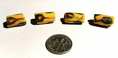 Group of 4 Vintage Venetian Tubular African Trade Beads
