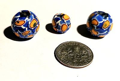 Group of 3 Vintage Venetian Round African Trade Beads