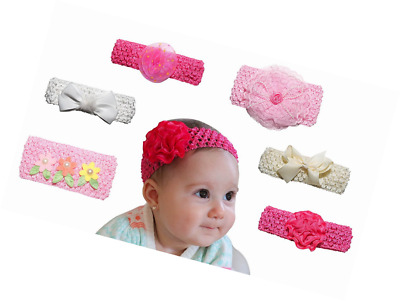 6 Pack Headbands for Baby Girl