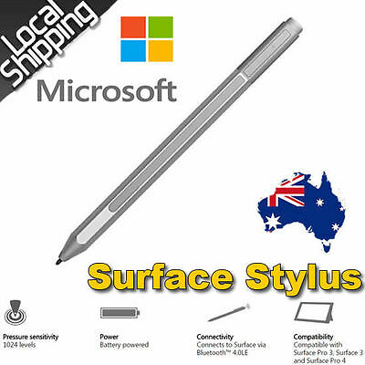 Genuine Microsoft Surface Pen for Surface Pro 4 / 3 Stylus Bluetooth Silver AU
