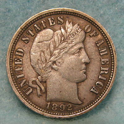 1892-O New Orleans Mint Barber Silver Dime Choice XF * Nice! *  US Coin #1193