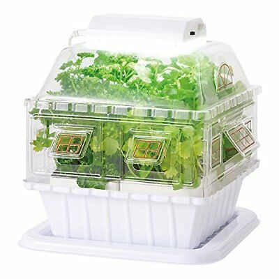 Gakken LED Garden Hydroponic Grow Box Vegetable cultivating unit Japan F/S (S)