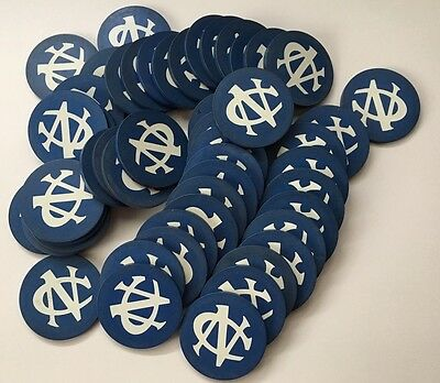 "50 Antique Blue ""NC"" Or ""CN"" Monogramed Poker Chips. Vintage. 1920s."