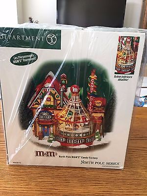 "DEPT 56 NORTH POLE  "" M&Ms CHRISTMAS HOLIDAY CANDY FACTORY ""  BRAND NEW"