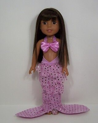 "Halloween Mermaid Outfit Doll Clothes For AG 14"" Wellie Wisher Wishers (Debs)"