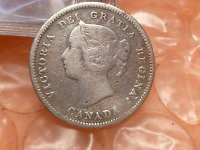 Canada 1883 H 5 Cents Low Mintage 600,000 #C
