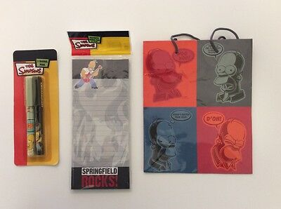 NEW -The Simpsons - Pen and Notepad Gift Set - Includes Simpsons Gift Bag