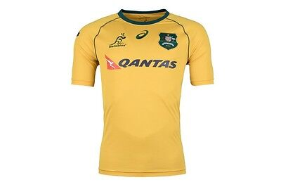 Australia Wallabies Rugby 2017 Asics Home Jersey Adults Sizes S-3XL!