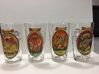 Pete's Wicked Ale - 1997 Limited Edition Glasses - Set Of Four - Mint Condition