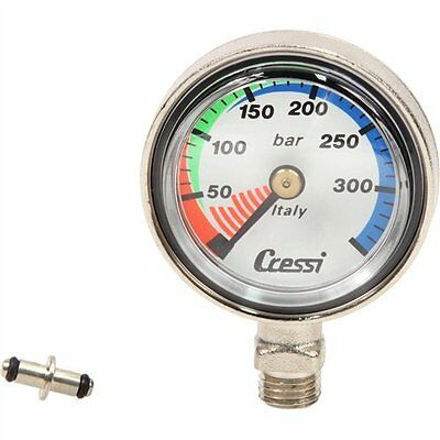 Scuba SPG Air Pressure Gauge Slimline (with spool)