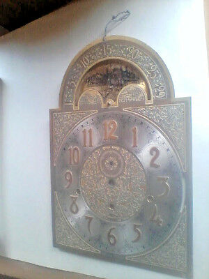 Grandfather Clock Face Moon Ship w Gears sheet metal (1041