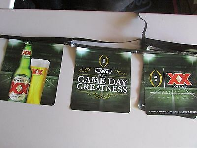 NEW 14' Dos Equis College Football Gameday Beer String Banner Greatness XX Flags
