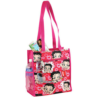 NEW Betty Boop Reusable Tote Bag - Zippered Pockets & Waterproof Exterior