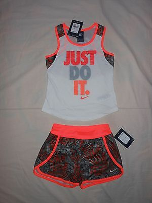 NWT Nike Little Girls 2pc shirt and short outfit set, Size 6X