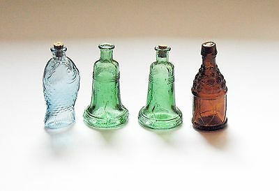 4 Mini Wheaton Bottles