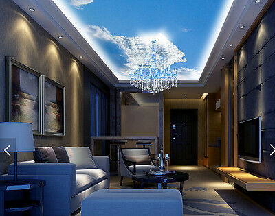 3D House Clouds Ceiling WallPaper Murals Wall Print Decal Deco AJ WALLPAPER AU