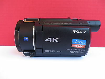 Sony FDR-AX53 4K Ultra HD Handycam Camcorder * AS IS