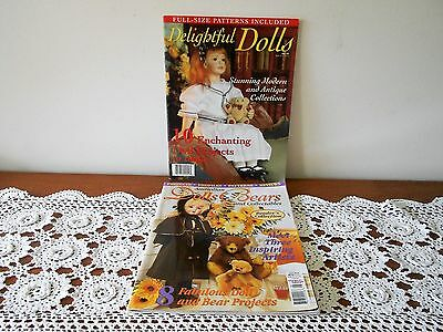 Australian Dolls Bears & Collectables Vol 7 No 8 & Delightful Dolls Magazines