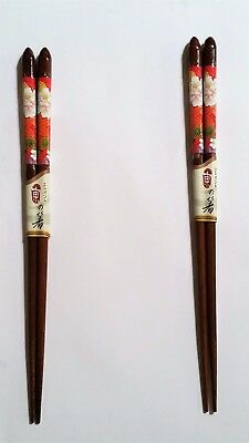 2 Pairs of Genuine Handmade Japanese Bamboo chopsticks 22.5cm - Made in Japan