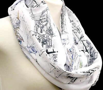 Aviation infinity scarf airport birthday gift for her flight attendant present