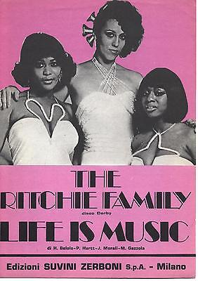 Spartito 97 - THE RITCHIE FAMILY - Life is music - 1977